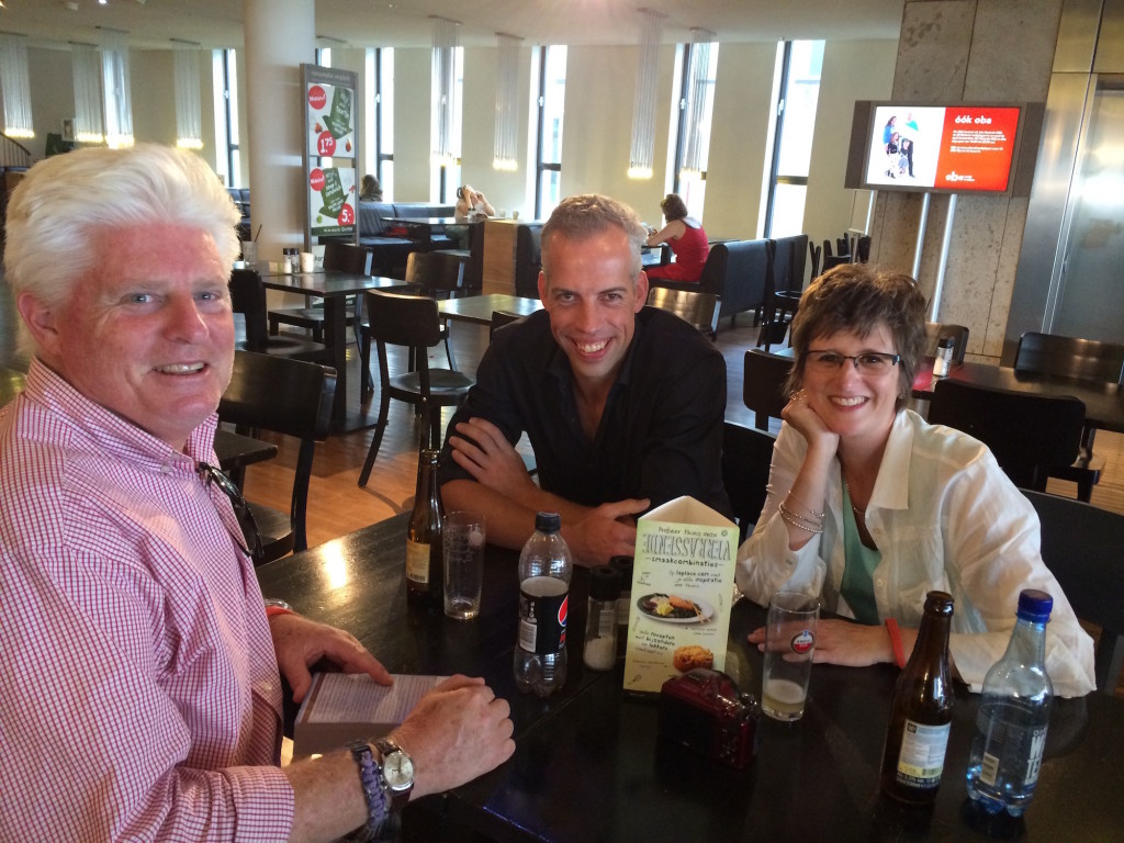 Jan Willem Tulp, center, in Amsterdam with Terry Boyd, left, and Cheryl Boyd.