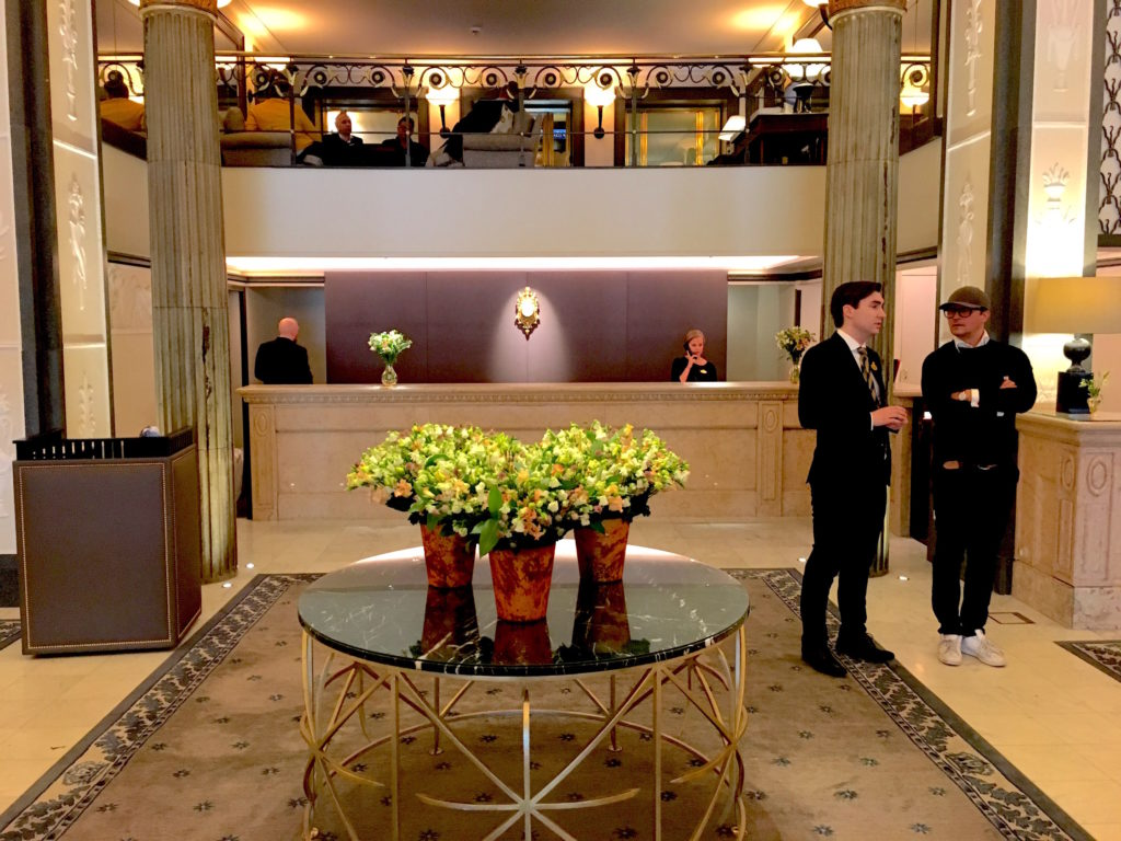 The lobby of the Grand Hotel. Like Tiffany's, nothing very bad could ever happen to you here.