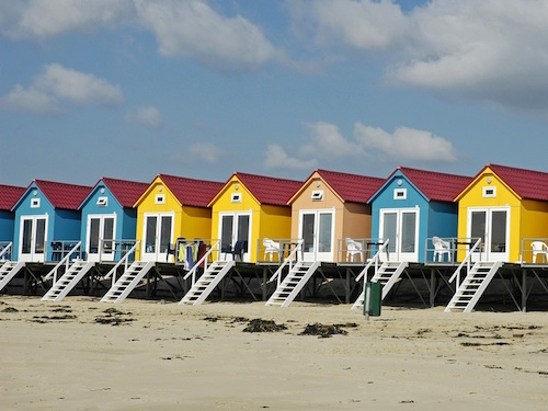 BEACH HUTS AT VLISSINGEN