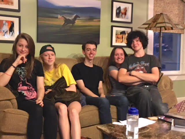 Lale had to say goodbye to all her American friends. From left to right, Lale, Lilly, Colin, Jamie and Will.