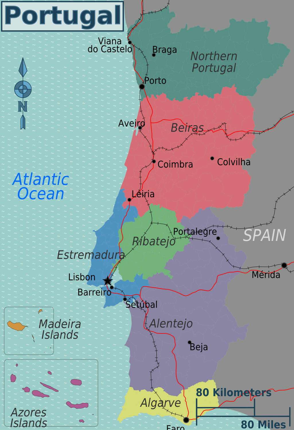 Retire In Europe Relaxed Lifestyle Low Taxes - Portugal map silver coast