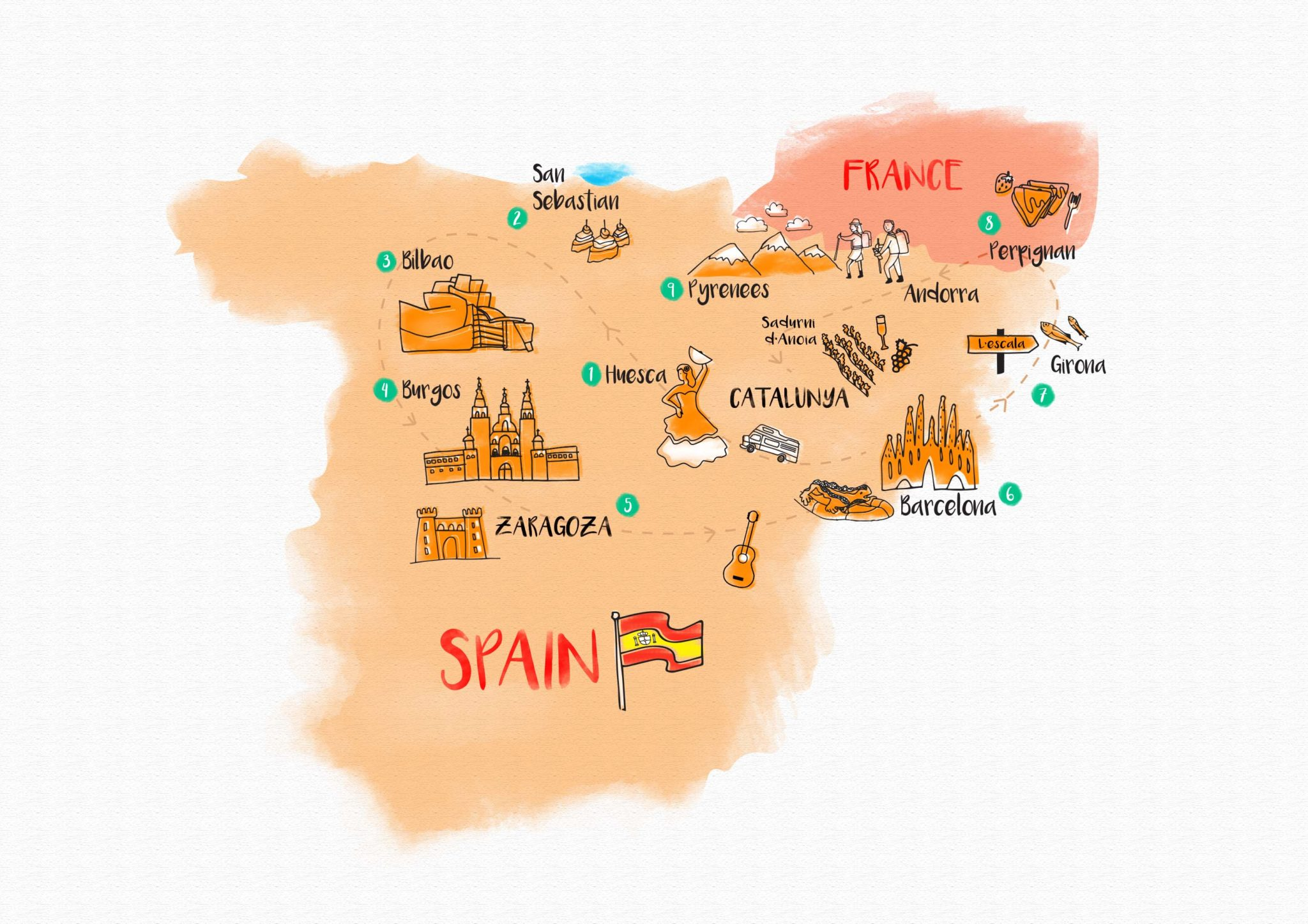 Map Of Spain Huesca.Spain Map Blog Dispatches Europe