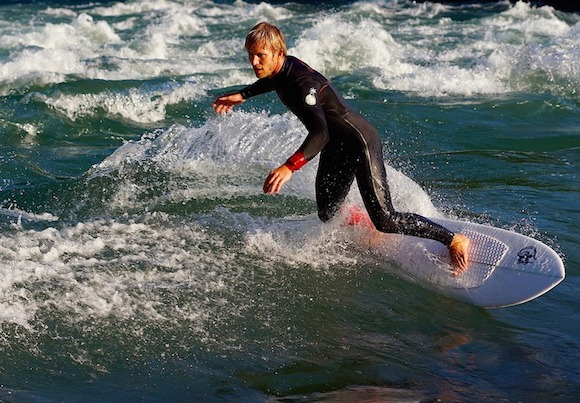 Surf Wetsuit River Surfboard Surfer Wave
