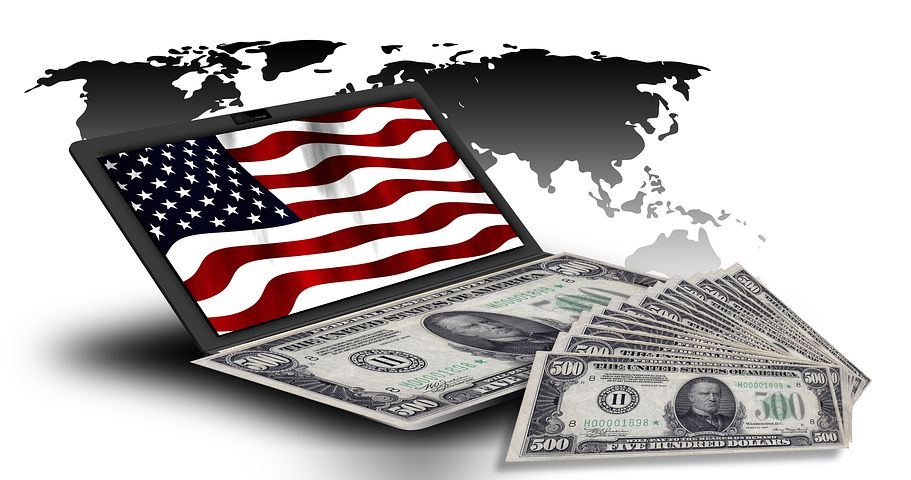 dollars and flag