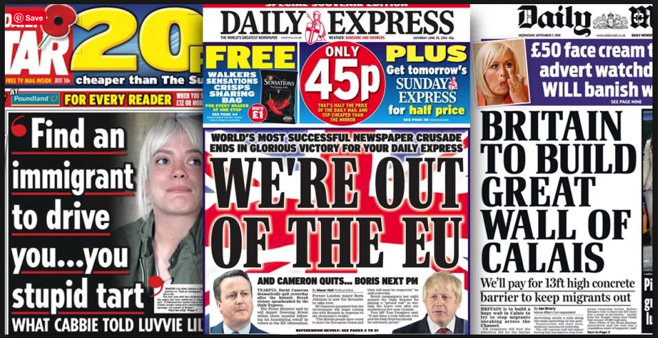 How British tabloids caused Brexit and pretty much everything that's bad